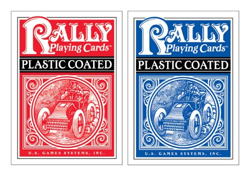 Plastic-Coated Rally Playing Cards