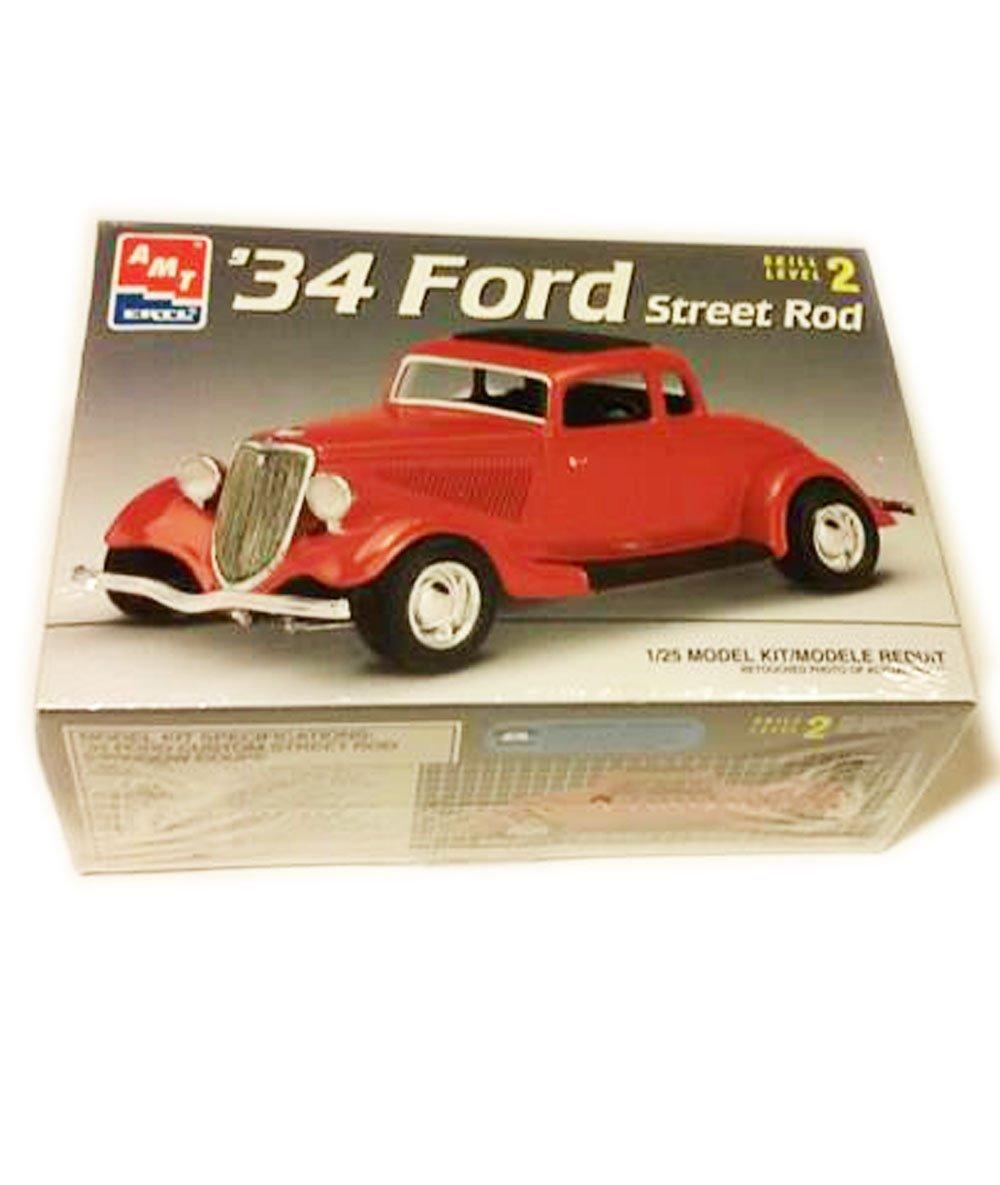 Amazon.com: #6686 AMT/Ertl 34 Ford Street Rod 1/25th Scale Plastic ...