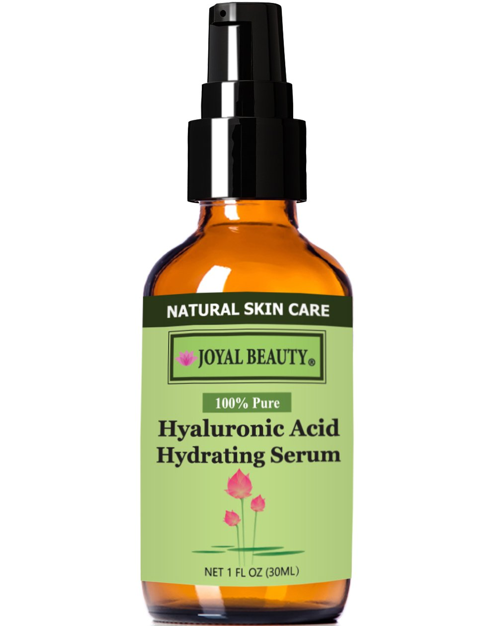 Hyaluronic Acid Hydrating Serum 100 Pure by Joyal Beauty. The Purest Form. All Natural. Vegan. Alcohol-free.Chemical-free. Premium Hyaluronic Acid for Younger, Firmer and Plump Skin.