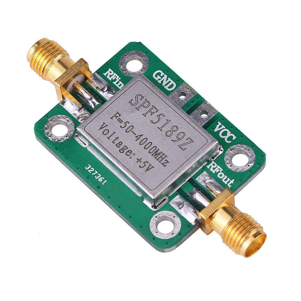 50-4000MHz RF Amplificatore a Basso Rumore SPF5189 0,6 dB Amplificatore a Banda Larga Ricevitore Segnale per FM HF VHF/UHF Ham Radio Impianti satellitari