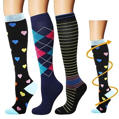 b1c68c12f9e Amazon.com  YOLIX Compression Socks for Women   Men 20-30 mmHg - 3 6 ...