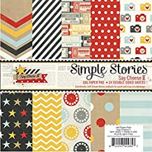 """Simple Stories Double-Sided Paper Pad 6""""x6"""" 24-Pack Say Cheese II, 12 Designs/2 Each"""
