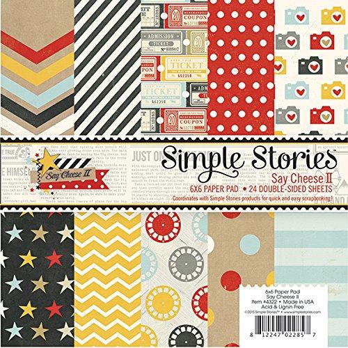Simple Stories Say Cheese II Designer Paper Pad (24 Pack)