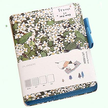 CXYBJB Cuaderno Cuaderno De Cuero A6 Agenda Agenda Carpeta ...