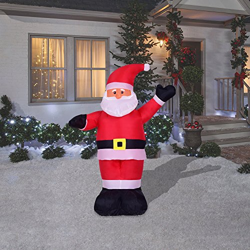 4 Foot Christmas Inflatables Airblown Waving Santa Claus Xmas Blow Up For Outdoor  Lawn Yard Decoration