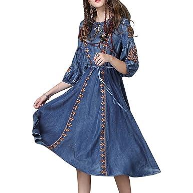 Robe De Manches Jean Lha82027 Ajourée Valin Femme Maxi Courtes srhdCQtx