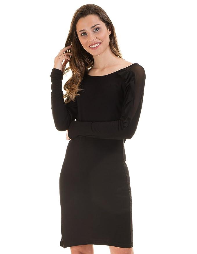 2835fa9ac06c4 Vestido negro corto de Vila Clothes (S - Negro)  Amazon.es  Ropa y  accesorios