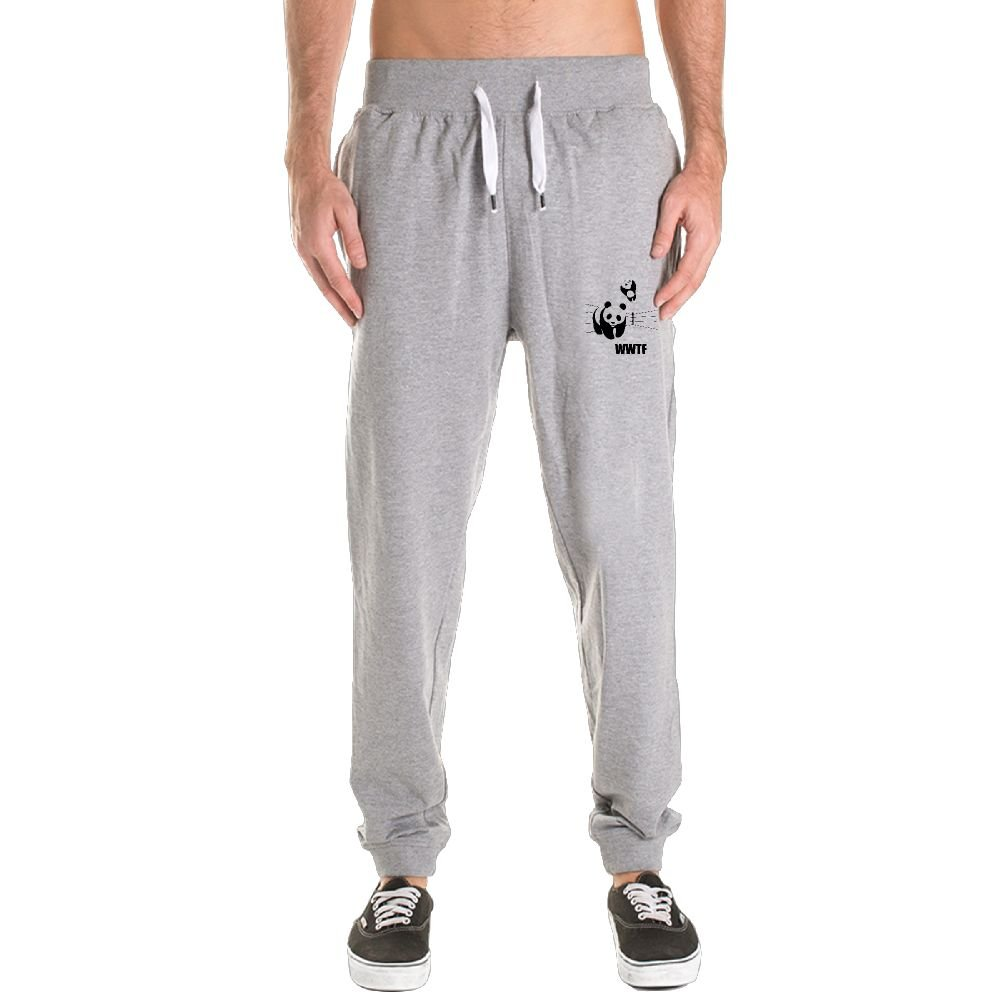 BLCKPT Panda Wrestling Students Jogger Fitted Bottom Elastic Waist by BLCKPT