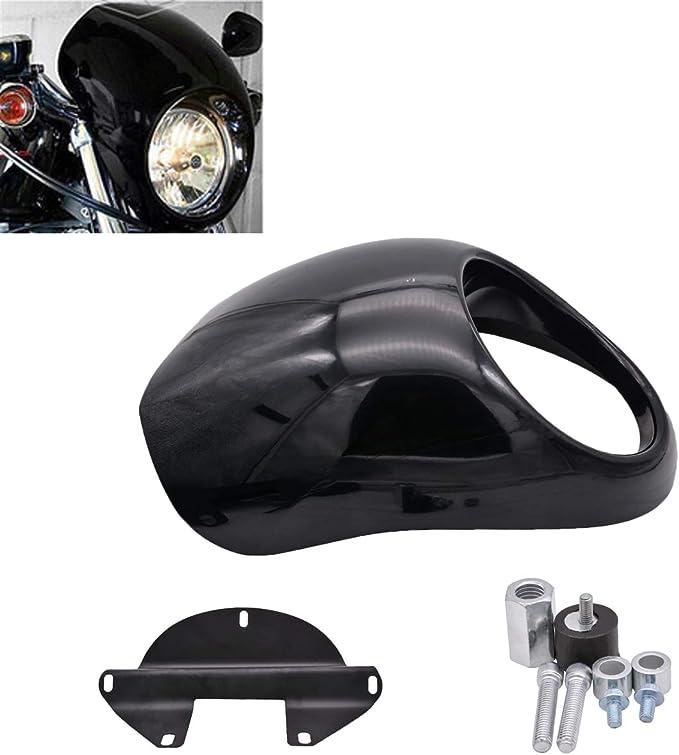 Natgic Motorrad Scheinwerfer Abdeckung Scheinwerfer Verkleidung Haubenmaske Visier Abdeckung F R Harley Davidson Dyna Sportster Visier Set Auto