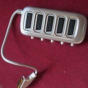 Gefotech 8045 - Ciabatta per 5 prese scart con interruttore, spina maschio a 21 pin