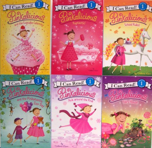 Price comparison product image Pinkalicious 6 Pack - Pinkalicious and the Cupcake Calamity, Puptastic, Pink Around the Rink, Pinkatastic Zoo Day, Pinkalicious Fairy House, School Rules