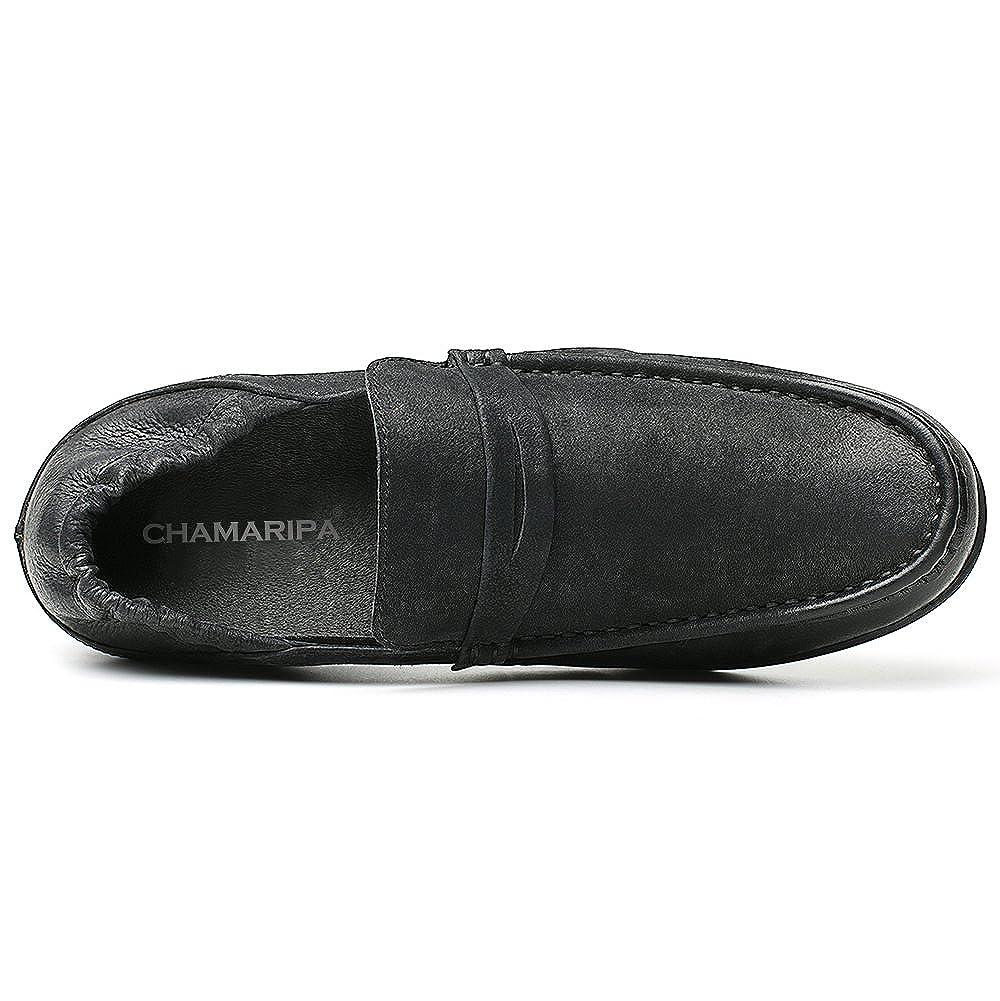 CHAMARIPA Zapatos de Hombre Altos Ocasionales Mocasines de Aumento de Altura Zapatos de Golf con Elevador para Hombres de 6 CM / 2.36 Inch: Amazon.es: ...
