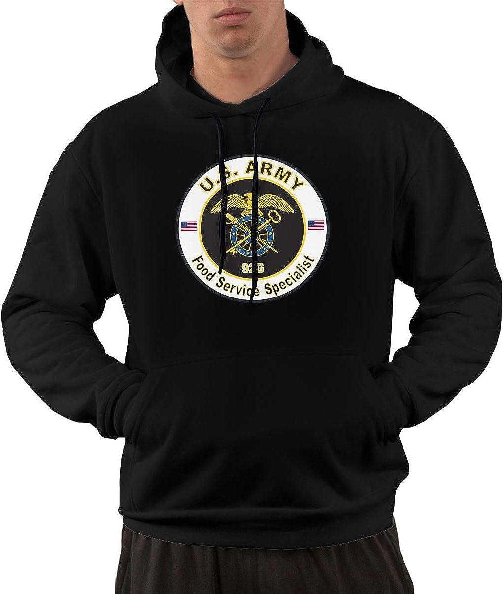 Army MOS 92G Food Service Specialist Men's Hoodie Sweatshirt Pullover Hoodie Casual Hoodie with Pockets