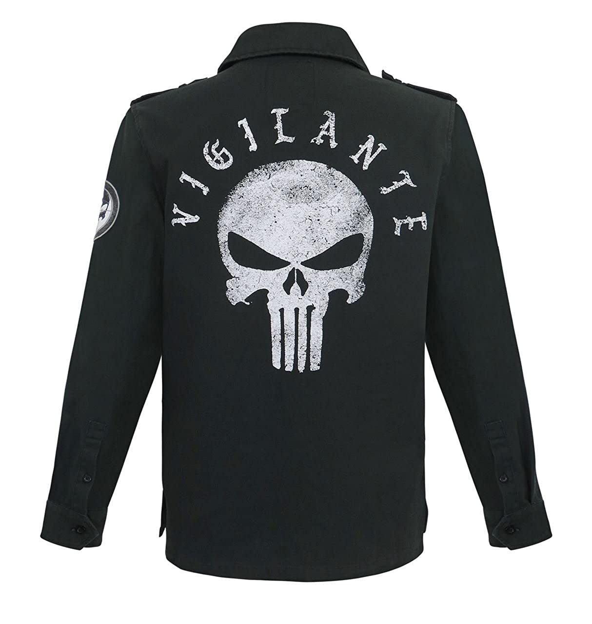 Bioworld Merchandising / Independent Sales Men's Punisher Vigilante Utility Jacket