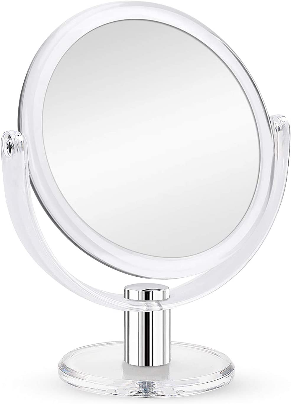 Amazon Com Fabuday Magnifying Makeup Mirror Double Sided 1x 10x Magnification Mirror Table Top Vanity Mirror For Home Bathrom Transparent