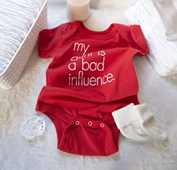 dbe5c5d5dbcb Funny Baby Bodysuit | My Aunt is a Bad Influence. WRYBABY Funny Baby  Bodysuit | My Aunt is a ...