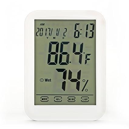 Beoankit - Termómetro de habitación, medidor de humedad de temperatura multifuncional, medidor de humedad