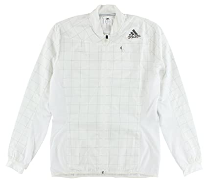 Amazon.com: adidas Mens Climaproof Running Jacket White ...