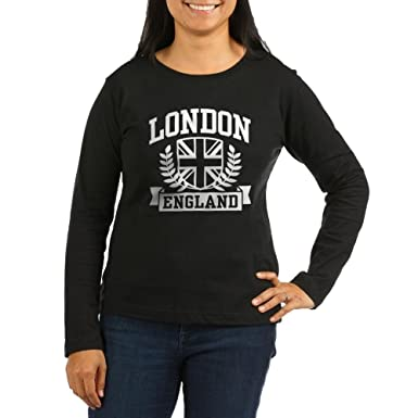 f4ed98ba4 Image Unavailable. Image not available for. Color: CafePress - London  England Women's Long Sleeve Dark T-Shirt ...
