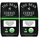 The Bean Coffee Company Organic Aloha Bean (Hawaiian Hazelnut), Medium Roast, Ground, 16-Ounce Bags (Pack of 2)