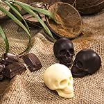 "3D Skull Ice Mold-2Pack,Easy Release Silicone Mold,8 Cute and Funny Ice Skull for Whiskey,Cocktails and Juice Beverages,Black 16 2 pack ice mold :eight giant skull shape ice cubes (2"" X 2.5"") make your drink look awesome. Great for parties, bars, restaurants, summer, holiday events and holiday gifts. Reliable material: food grade silicone. Non-toxic.100% safe to use. Non-stick materials. Easy to make a full skull ice.This durable and flexible silicone ice tray won't crack or break like plastic ice tray; easy to fill, remove and clean. Multiple use: it can also be used as mousse mold, sugar mold, chocolate, ice cream, soap making tools. And it is fantastic to be used in various occasions like parties, beaches, wine party and holiday events etc."