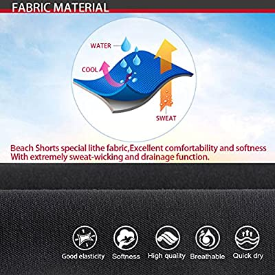 SUPERBODY Mens Summer Beach Shorts Quick Dry Water Causal Swim wear Surf Board Trunk with Mesh Liner Pockets