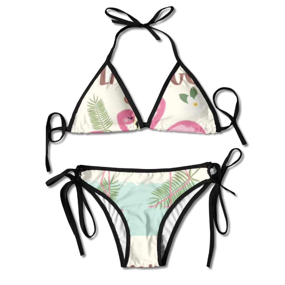 FDJKHY Personalized Women Bikini-Love Flamingos Swimsuit Beachwear by FDJKHY (Image #1)