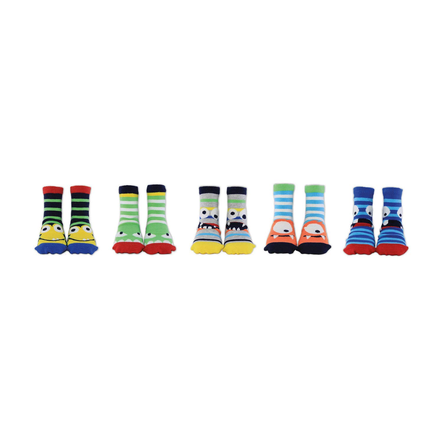 Cucamelon Little Nippers 5 Pairs of Socks 2-4 Years Toddler Giftboxed