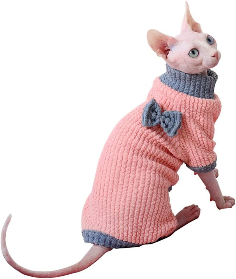 gato blanco con traje de cuerpo entero para gato ,de color rosa, algodon