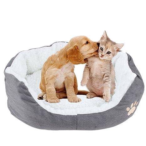 Namgiy Cama de Perro Gato Mascota Cachorro Cama Cesta Perro Almohada cojín sofá Suave Lavable Redondo