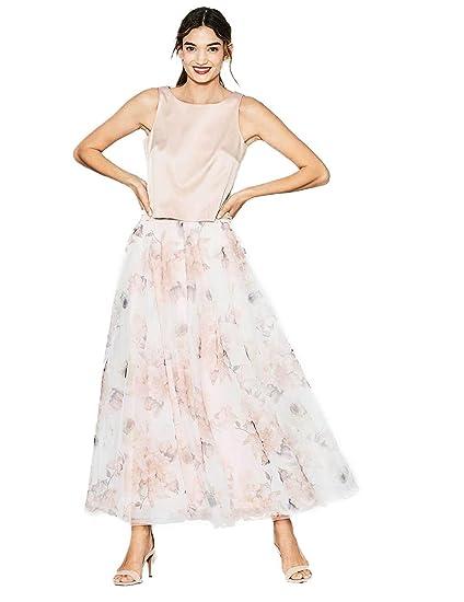 Esprit Tul Falda Estampada Rosa Mujer: Amazon.es: Ropa y accesorios