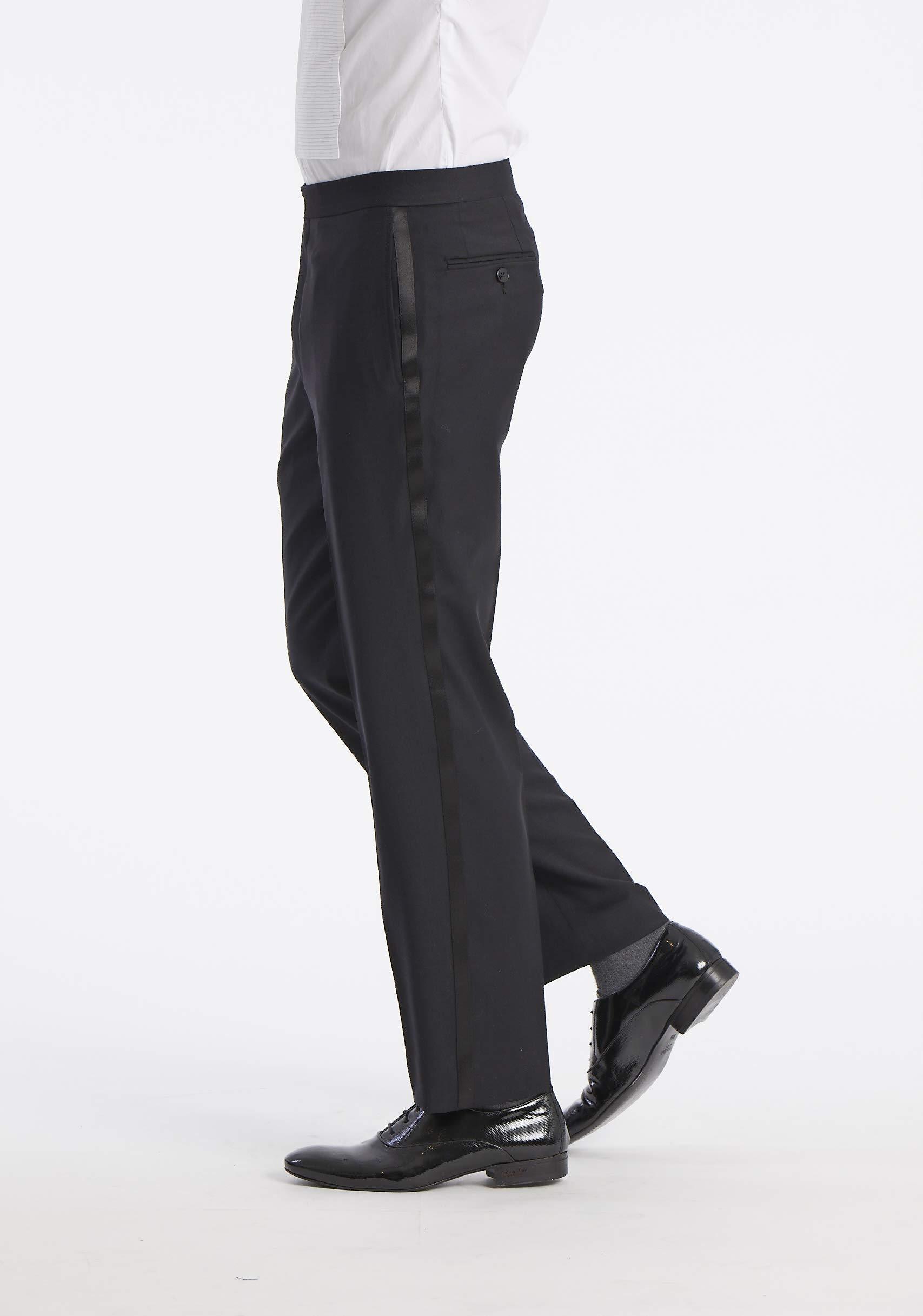 49cd00873513 Calvin Klein Men's Modern Fit 100% Wool Tuxedo Suit Separate (Blazer and  Pant), Black, 34W x 30L - JSENPTSP0000 < Tuxedos < Clothing, Shoes &  Jewelry - tibs