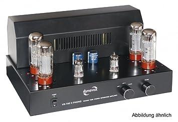 Dynavox VR-70 E II - Amplificador a válvulas para tocadiscos, color negro (