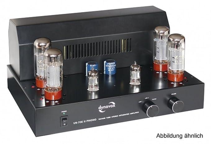 Dynavox VR-70 E II - Amplificador a válvulas para tocadiscos, color negro (importado): Amazon.es: Electrónica