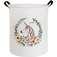 ESSME Laundry Hamper,Collapsible Canvas Waterproof Storage Bin for Kids, Nursery Hamper,Gift Baskets,Home Organizer (Art…