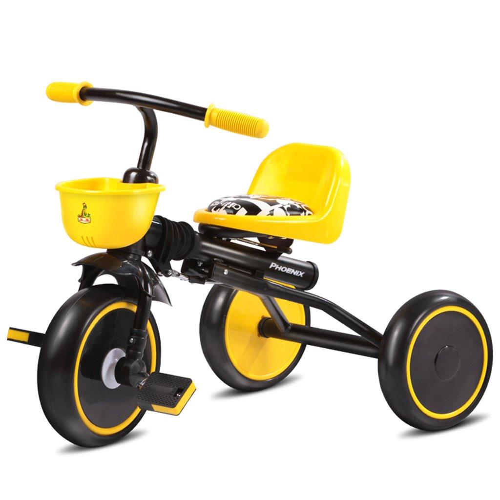 HAIZHEN マウンテンバイク 子供の三輪車1-3歳の古い軽量折り畳み式ショッピングバスケットラバーダンピングフォームホイール自転車 新生児 B07DL7761G 2 2