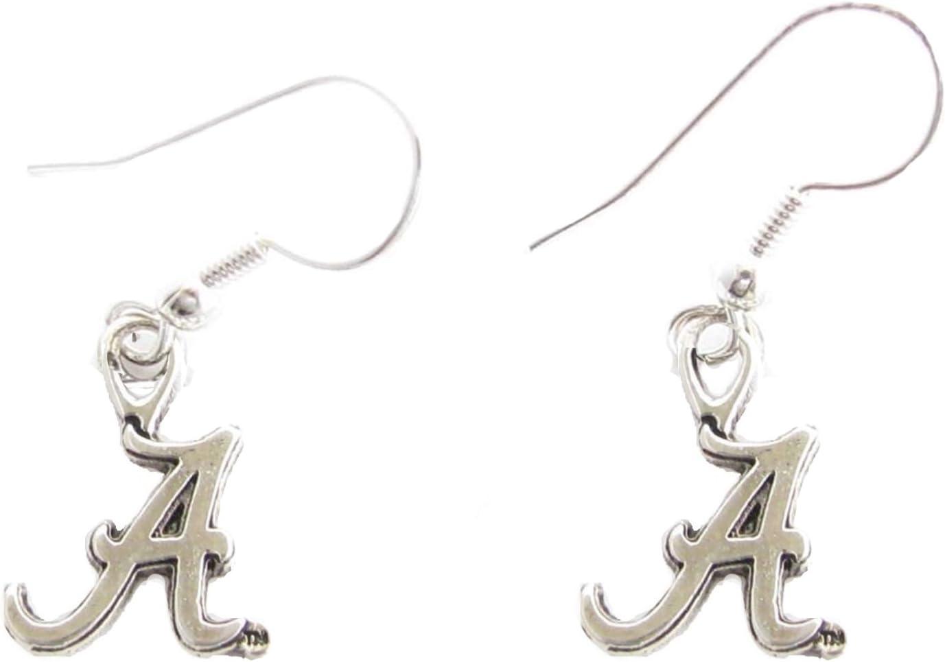 B00C4AM6F6 Sports Accessory Store Alabama Crimson Tide UA Silver Fashion French Hook Earrings 610McK3NFPL