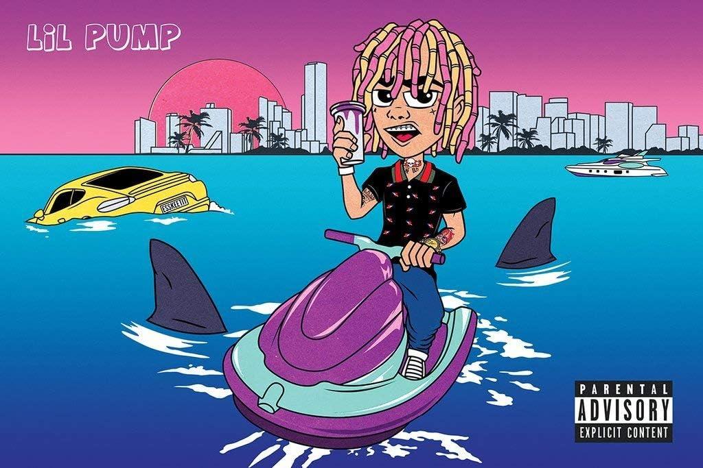 Yutirerly Poster Lil Pump 24in x 36in Rapper - Gucci Gang - Esskeetit: Amazon.es: Hogar