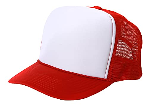 red white blue baseball hat caps retro foam mesh trucker and black