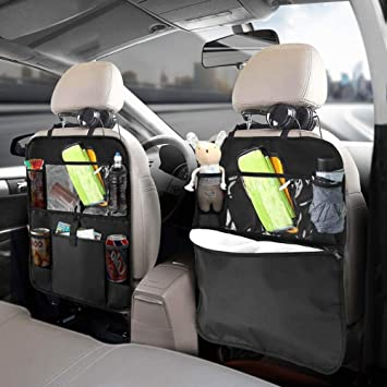 "Kick Mats Car Seat Back Protector Organizer with 10.1/"" Tablet Holder Car Travel"