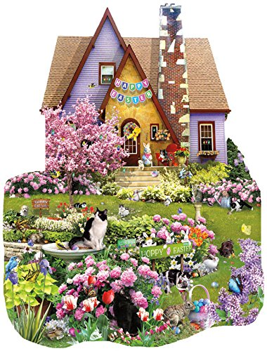 Easter On The Lawn - Shaped Jigsaw Puzzle - 1000 Pc