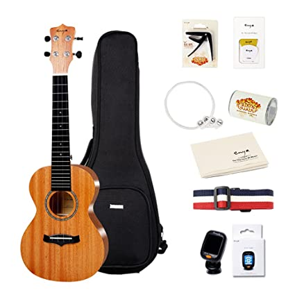 Amazon Enya Kucma Concert Mahogany Ukulele Set With Gig Bag