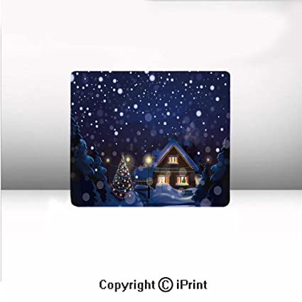 Amazon Com Small Mouse Pad Winter Night Country Landscape