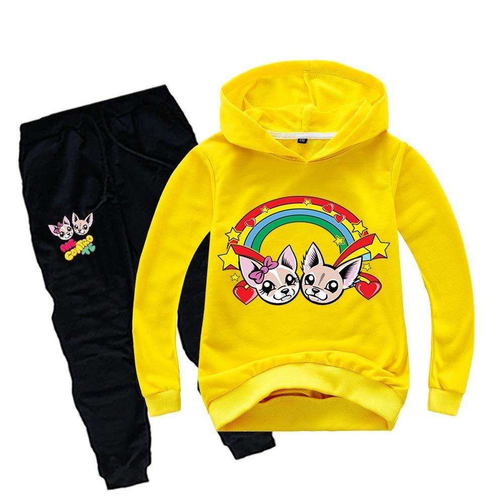 HJWL Ragazzi del Bambino Capretti delle Ragazze di Outfits Popolari Personaggi dei Cartoni Animati con Cappuccio Maglioni Felpe Top Pantaloni Copre Gli Insiemi