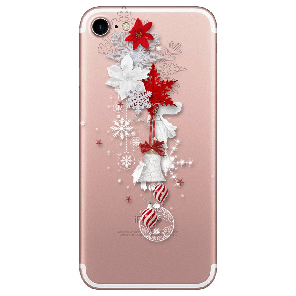 Case iPhone 7 / iPhone 8 TPU Soft Christmas Printed Snow Flower Silicone Shock-absorption Gel Bumper Patterns Ultra Thin Protective Slim Protection Gift (1)