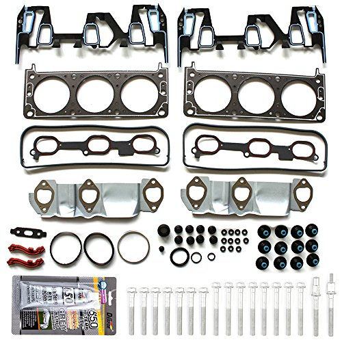 ECCPP Replacement for Head Gasket Sets for 05-09 Chevrolet Equinox 06-09 Pontiac Torrent 3.4L VIN F Engine Head Gaskets with Bolt Kit Set HS9071PT-3