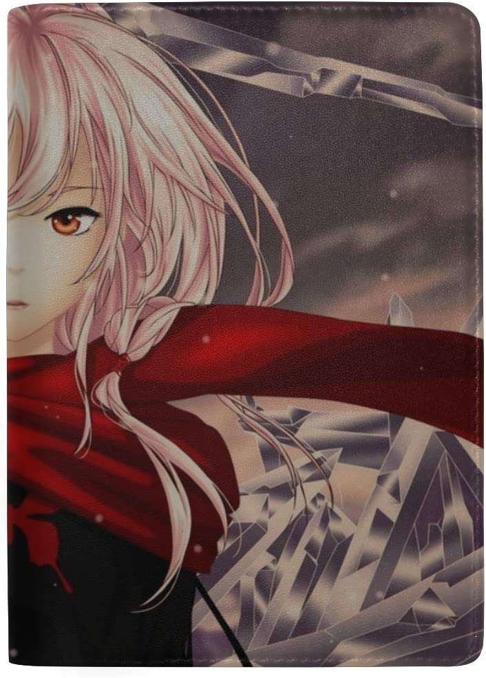 Guilty Crown Yuzuriha Inori Girl Scarf Leather Passport Holder Cover Case Travel One Pocket