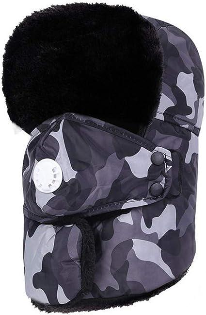 Camouflage Ushanka Winter Russian Hat Ski Faux Fur Pilot Military Army New