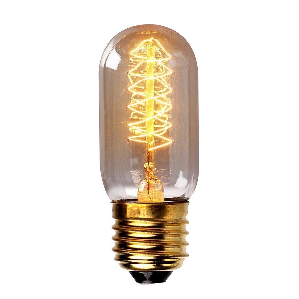 SODIAL(R) edison filamentosa pendente tungsteno Vintage Decorative industriale Lampadina -T45 40W 220V filamento a spirale