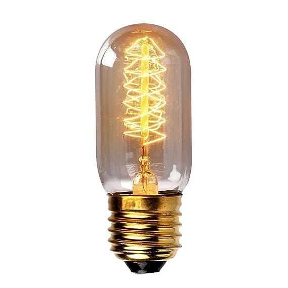 Warmwei/ß KINGSO 3x E27 Edison Lampe T45 Vintage Antike Gl/ühbirne Ideal f/ür Nostalgie und Retro Beleuchtung 40W, E27, 220V